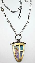 Studio 604 Brass Windows Necklace