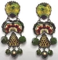 Ayala Bar Green Meadow Earrings