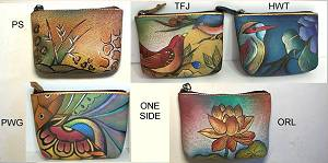 Anuschka Handpainted Leather Coin Purse