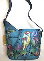 Anuschka Hawaiian Twilight Medium Asymmetric Flap Bag