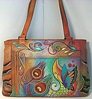 Anuschka Collage Divided Zipper Bag