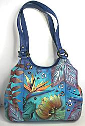 Anuschka Tropical Dream Triple Compartment Medium Satchel