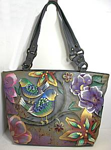 Anuschka Blissful Birds Classic Tote Bag