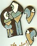 Artful Polymer/Resin Couple Pin Set