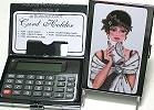 Audrey Card Case and Calculator in Lady With Clutch