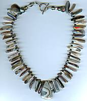 Brynn Botswana Agate Spears Necklace