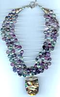Brynn Fluorite Abalone Necklace