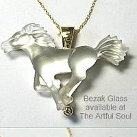 Bezak 14ky Spirit Horse Pendant with Diamond