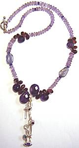 Dandridge Amethyst Garnet Iolite Necklace