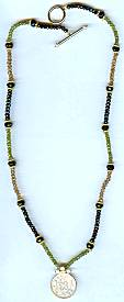 Donna Chambers 14kt Citrine/Onyx/Peridot Necklace