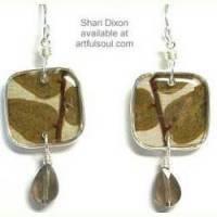 Shari Dixon Wild Brown Leaf Earrings