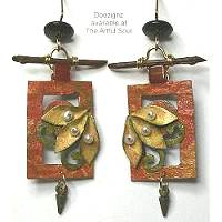 Doezignz Autumn Framed Leaves Earrings