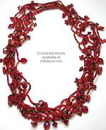 Enchanted Red Multi-Strand Necklace