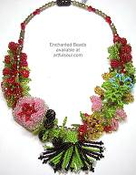 Enchanted Strawberry Daquiri Necklace
