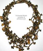 Enchanted Brown Multi-Strand Necklace
