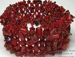 Enchanted Red Flat Bracelet