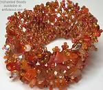 Enchanted Tangerine Flat Bracelet