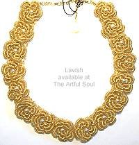 Lavish Gold and Pearl Necklace
