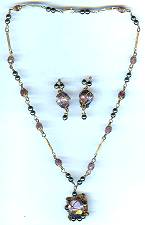 Licia Amethyst Necklace Set