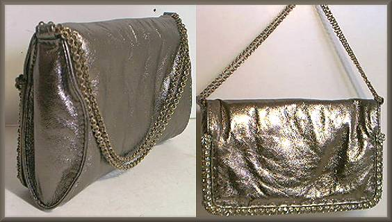Lixenberg Pewter Leather Evening Bag