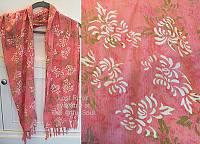 Lost River Batik Scarf, Pink Lady