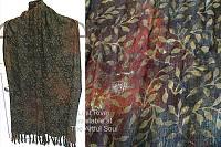 Lost River Batik Scarf, Earth Leaf
