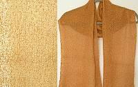 Lost River Long Knit Scarf, Dark Tangerine