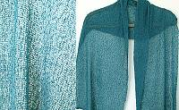 Lost River Long Knit Scarf, Deep Peacock