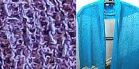 Lost River Long Knit Scarf, Blueberry