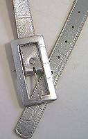 Leatherock Silver Leather Belt