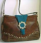 Leatherock Brown/Teal Bag