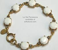 La Vie Golden White Alabaster Bracelet