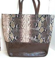 Liz Soto Brown Python 2-in-1 Tote