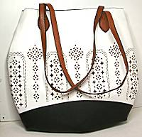 Liz Soto White Cut-Out 2-in-1 Tote