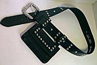 Mikki G Belt Bag in Black Leather
