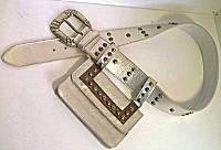 Mikki G Belt Bag in Platinum Leather