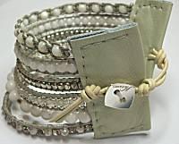Nakamol Wide MultiStrand Cream Bracelet