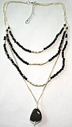 Nakamol Multi-Chain Necklace, Black/Silver