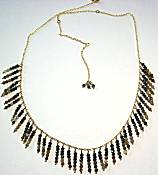 Nakamol Fringe Choker Necklace, Dark Neutrals