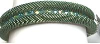 Cavender Curled Bead Channel Bangle Aqua/Peridot