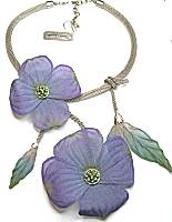 Sarah Cavender Purple Dogwood Blooms Necklace