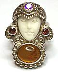 Sajen Goddess Amber Ring