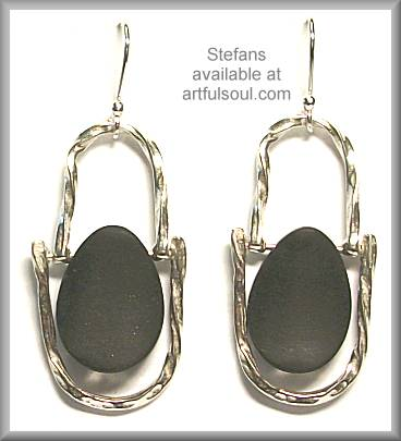 Stefans Black Rocks Earrings