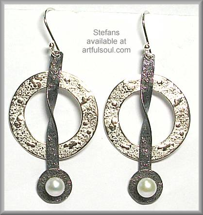 Stefans Textured Circle Earrings