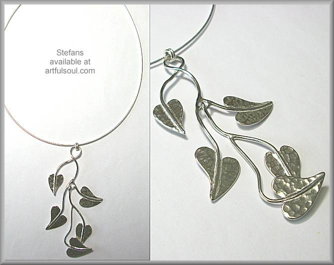Stefans Leaves Pendant Necklace