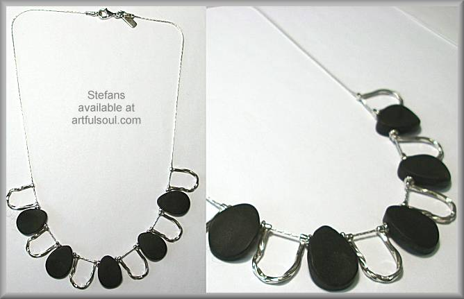 Stefans Black Rocks Necklace