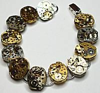 Steampunk 12-Watch Movements Bracelet