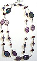 Sun Designs Purple Long Knotted Necklace