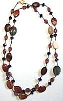 Sun Designs Purple Earth Long Knotted Necklace
