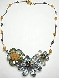 Sun Designs Gray and Tan Necklace